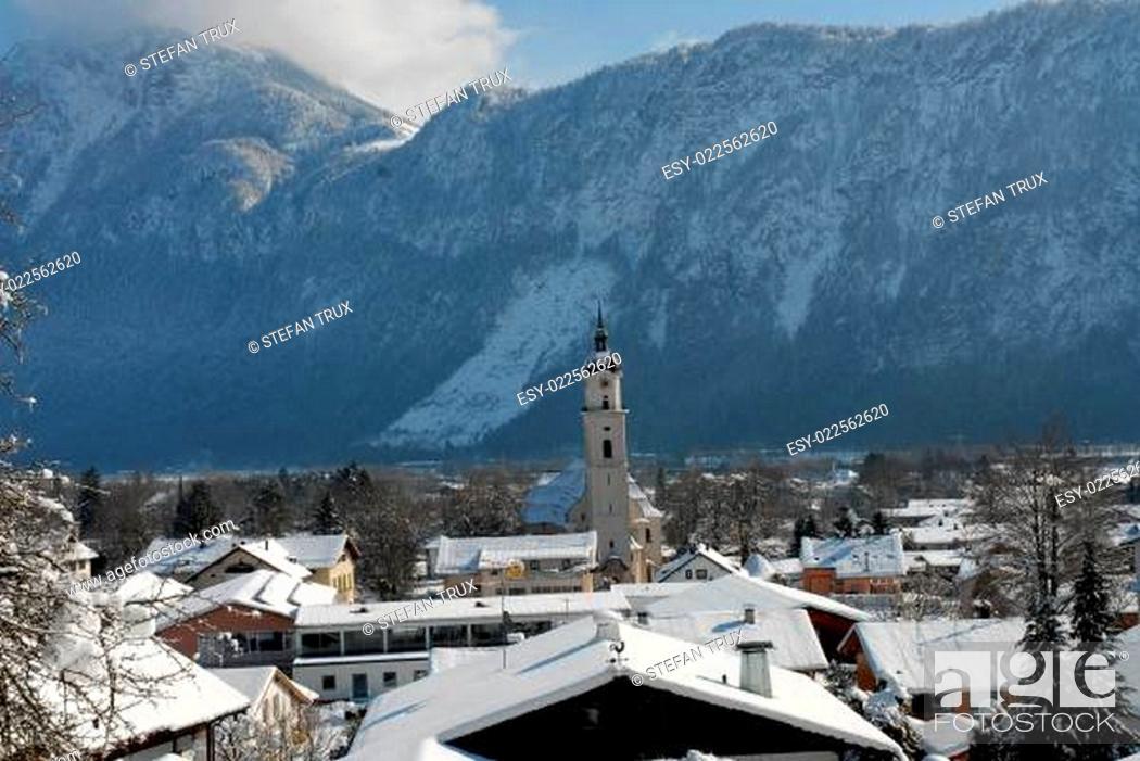 Stock Photo: Kiefersfelden im Winter.