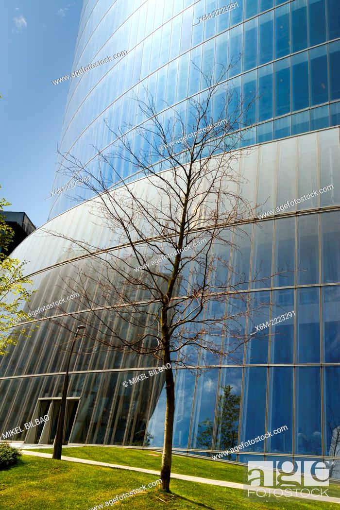 Stock Photo: Iberdrola Tower. Bilbao, Biscay, Basque Country, Spain, Europe.