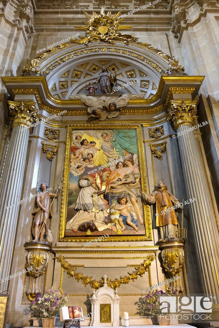 Stock Photo: Santa María del Coro Basilica church, Baroque style, Old Town, San Sebastián, Donostia, Guipuzcoa, Basque Country, Spain Europe.