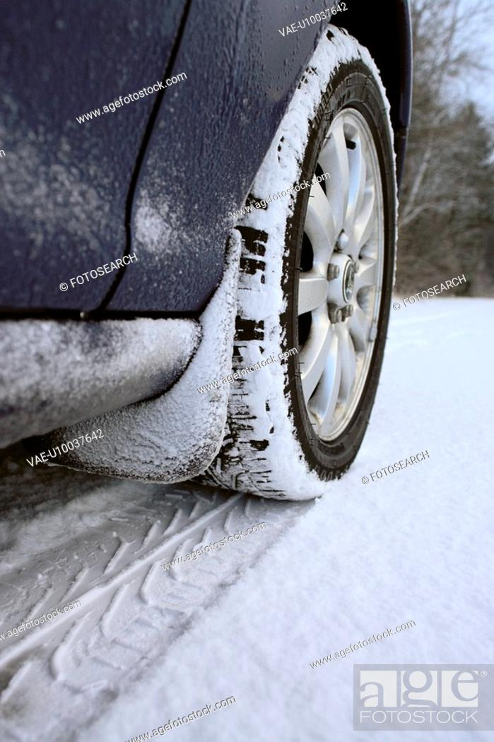 Stock Photo: Driving during winter months.