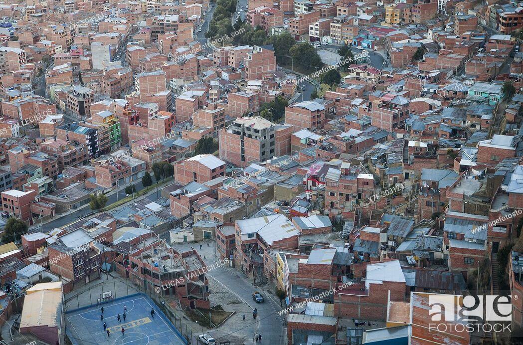 Stock Photo: Panoramic view, La Paz, Bolivia.