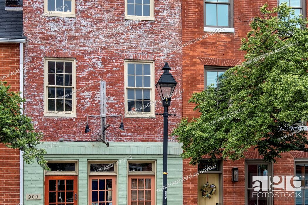 Stock Photo: Historic Fells Point district architecture in Baltimore.