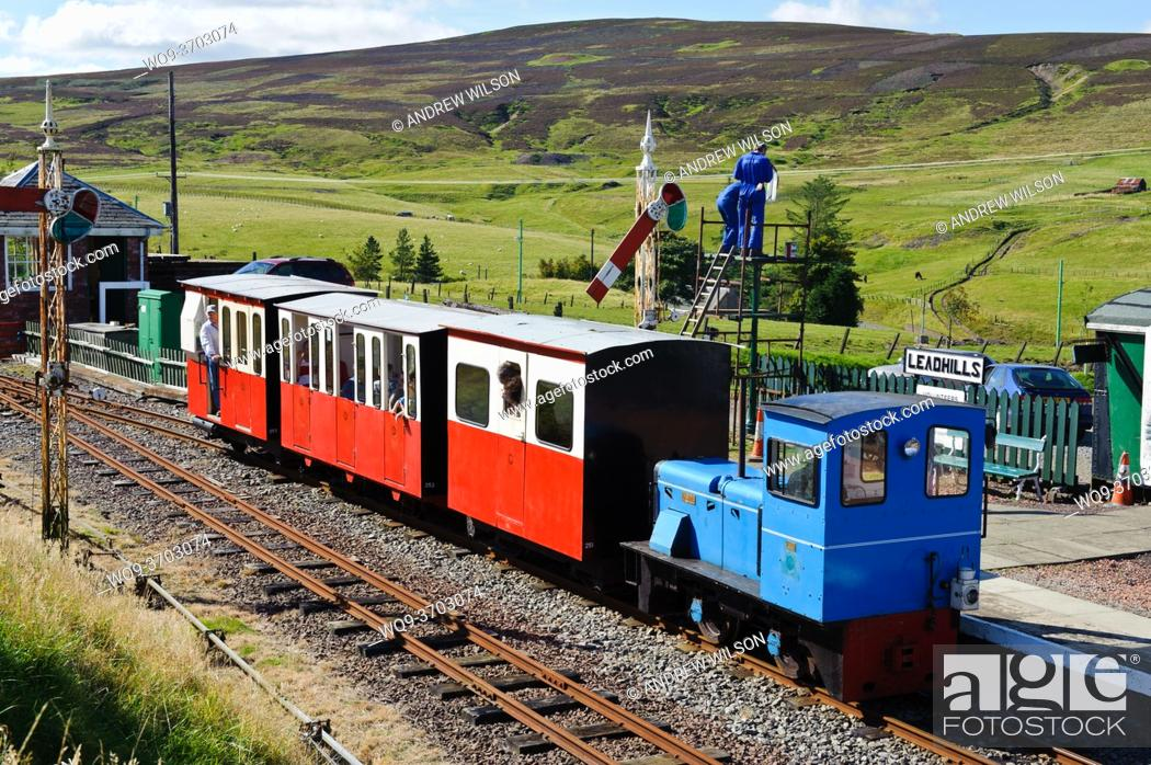 Stock Photo: Miniature railway at Leadhills in South Lanarkshire, Scotland.