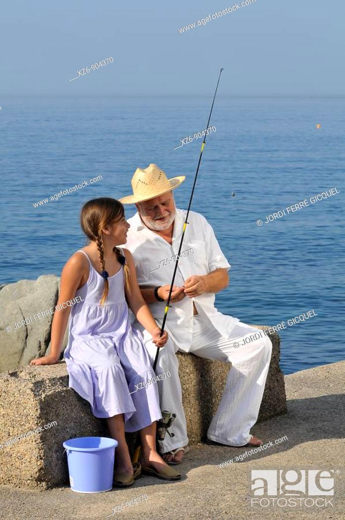 Imagen: morning fishing with grandpa.