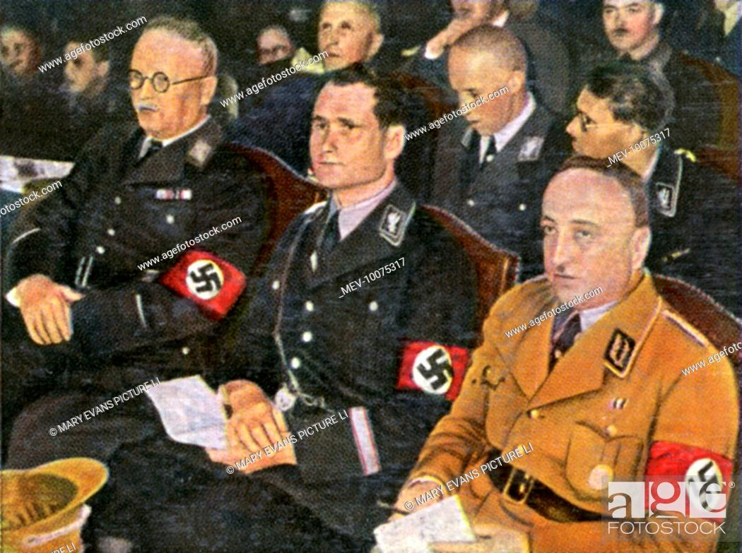 Stock Photo: RUDOLF HESS German Nazi leader at a Nazi meeting, circa 1933.