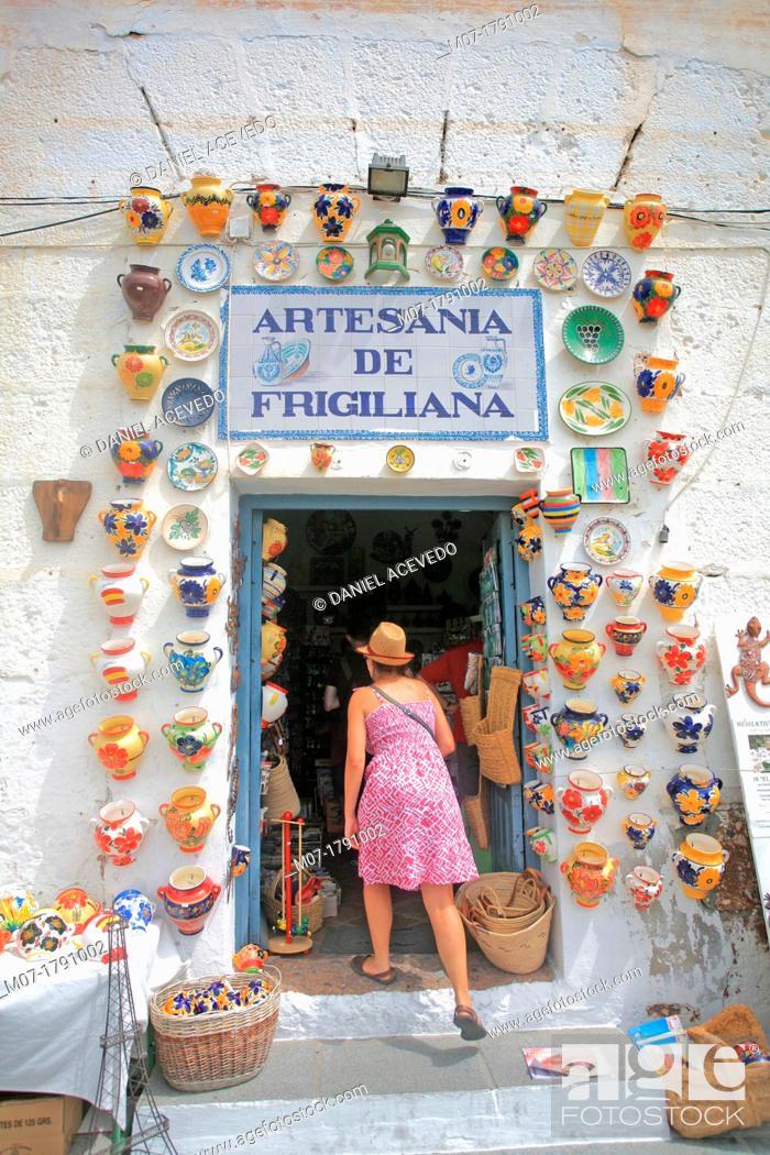 Stock Photo: Frigiliana village, Malaga, Costa del Sol, Andalucia, Spain.