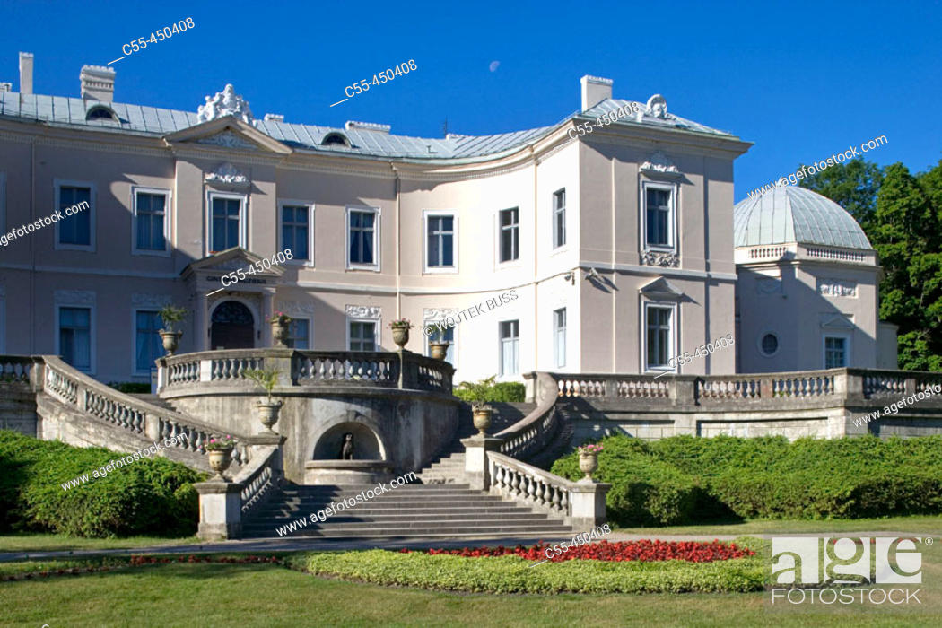 Stock Photo: Palace of Count Feliksas Tiskeviciusz (now Amber Museum) and gardens, Palanga. Lithuania  Tiskevicius.