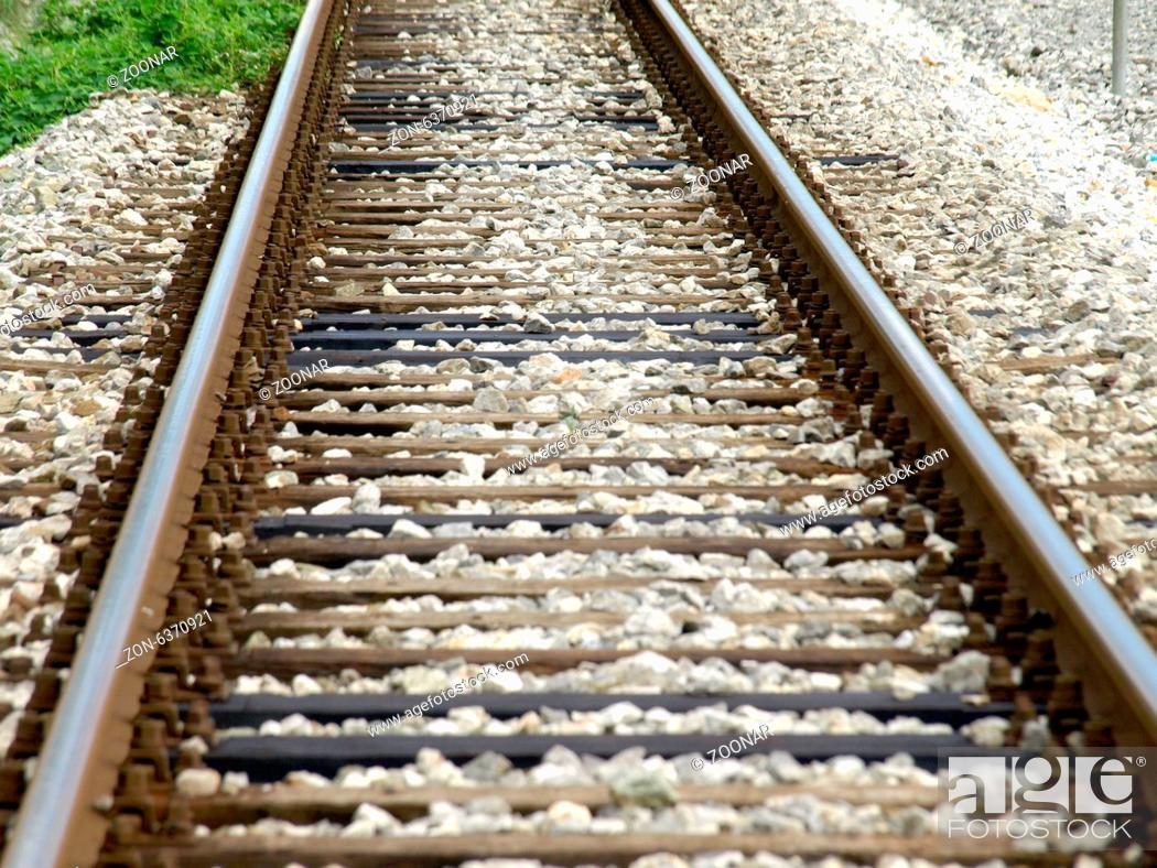Stock Photo: railroad tracks.