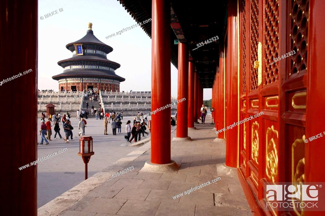 Stock Photo: Qinian Hall (Hall of Prayer for good harvest) of  Temple of Heaven. Beijing. China.
