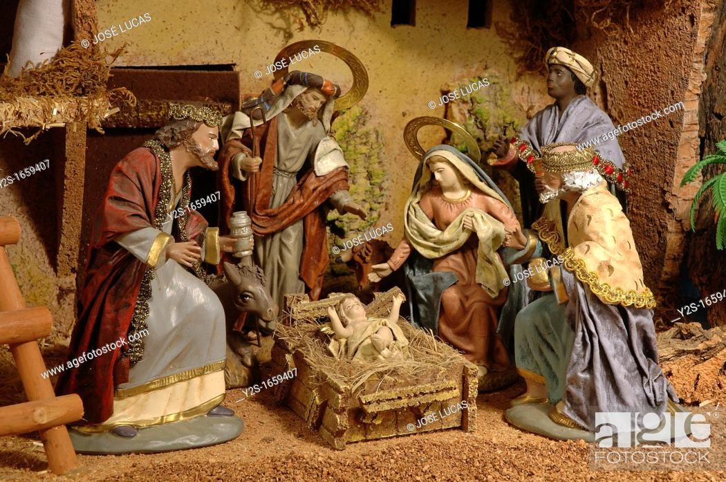 Stock Photo: Nativity scene whit Magi Kings, Christmas, Region of Andalusia, Spain, Europe.