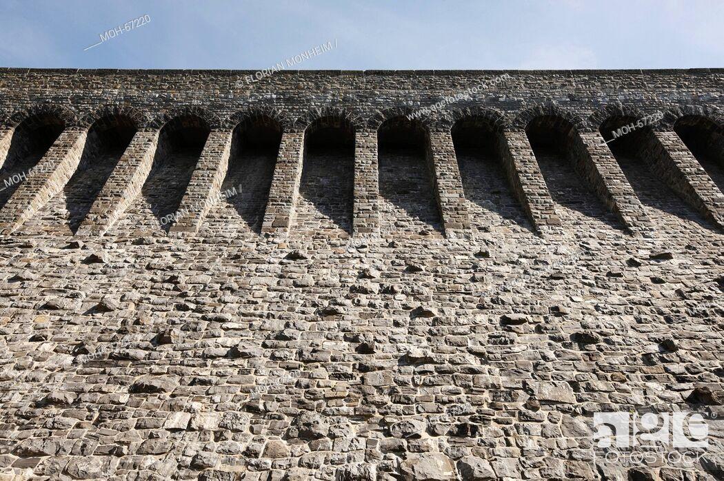 Imagen: Staumauer, 1908 bis 1913 erbaut.