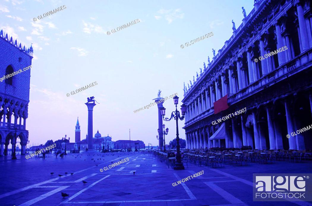 Stock Photo: Hotel at the town square, St. Mark's Square, Venice, Veneto, Italy.