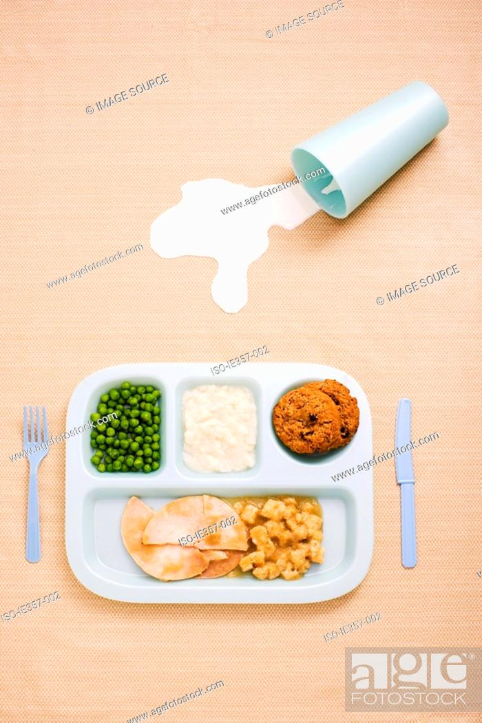 Stock Photo: A childs dinner.