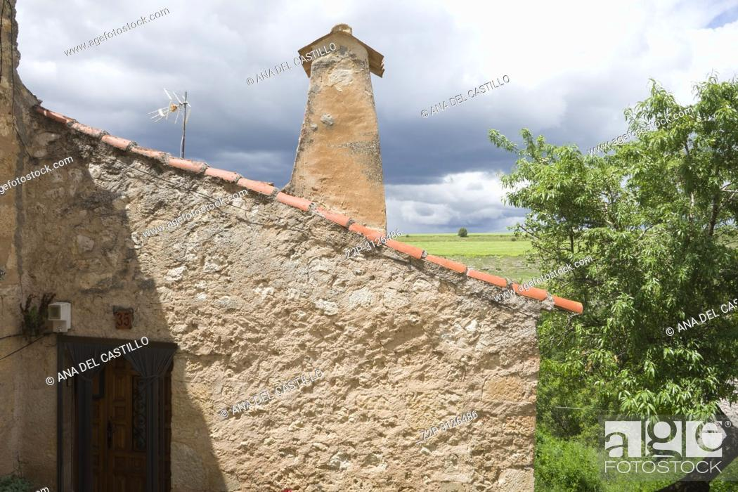 Stock Photo: Maderuelo is an ancient village in Segovia province Castile Leon Spain.