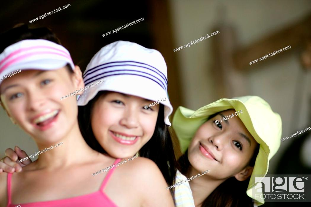Stock Photo: Portrait of young women smiling.