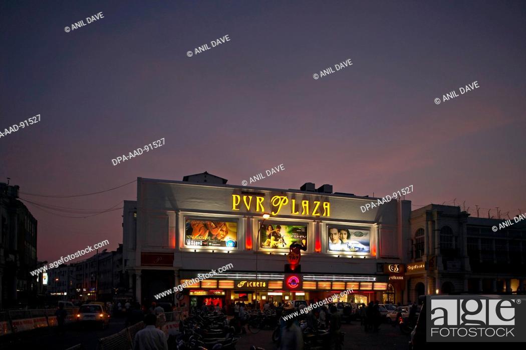 Stock Photo: Plaza Cinema, Connaught Place, New Delhi, India.