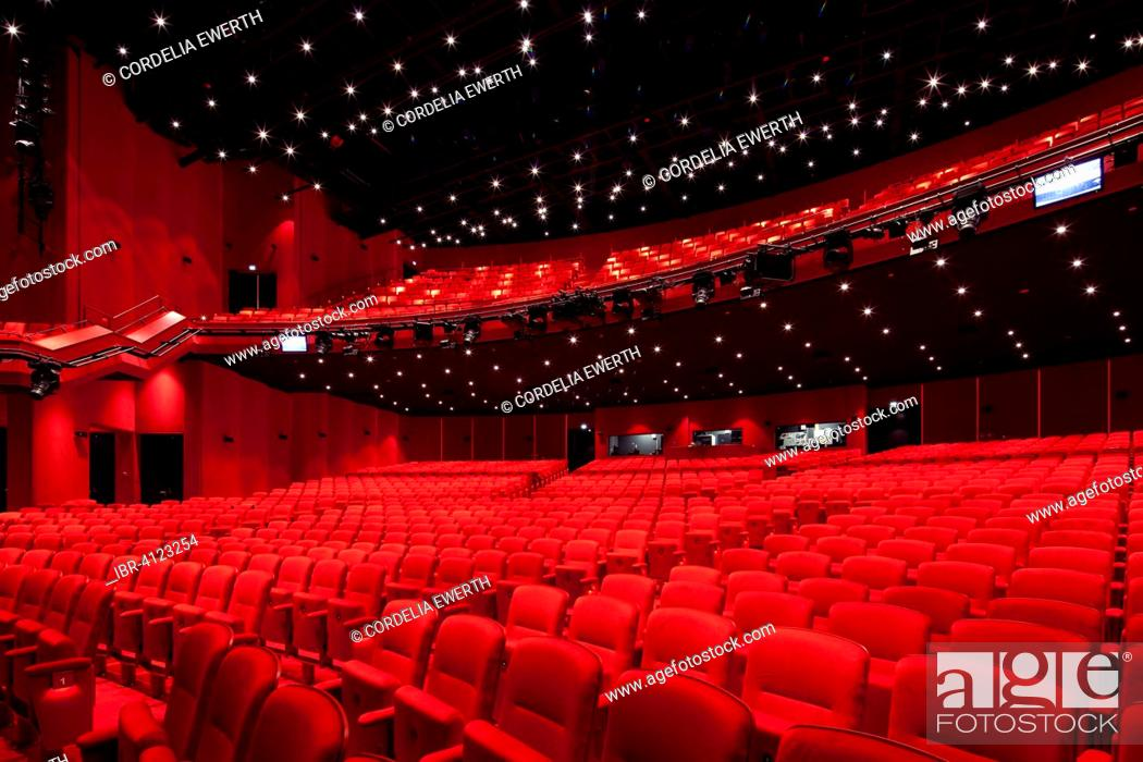 Stock Photo: Auditorium floor and rank, Stage Theater an der Elbe, Hamburg, Germany.