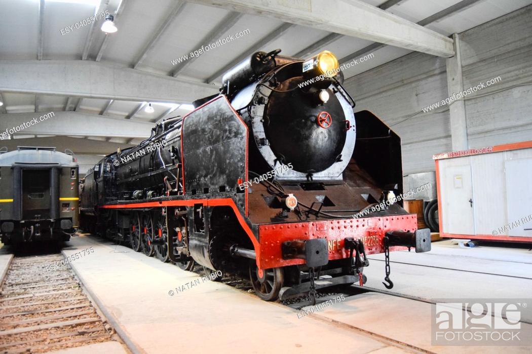 Stock Photo: Steam locomotive.