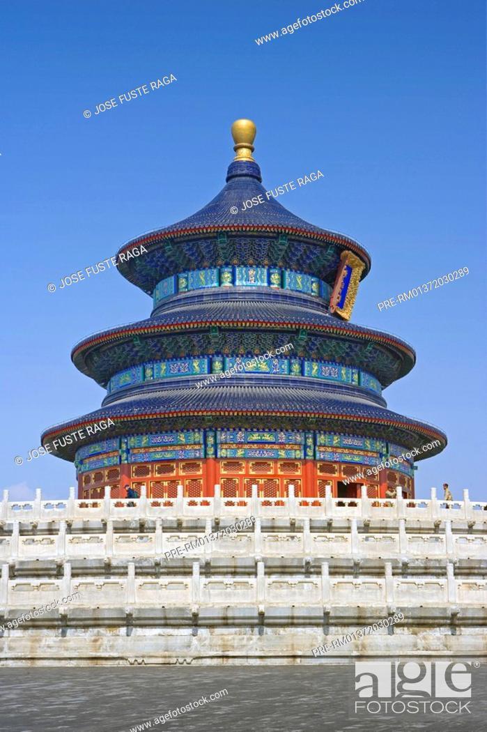 Stock Photo: Temple of Heaven, Tiantan, Beijing, China, Asia.
