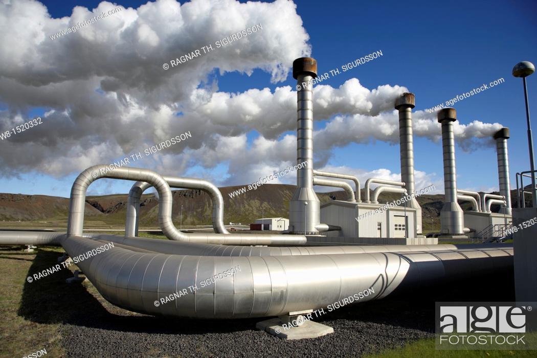 Stock Photo: Nesjavellir Geothermal Power Plant, Iceland.