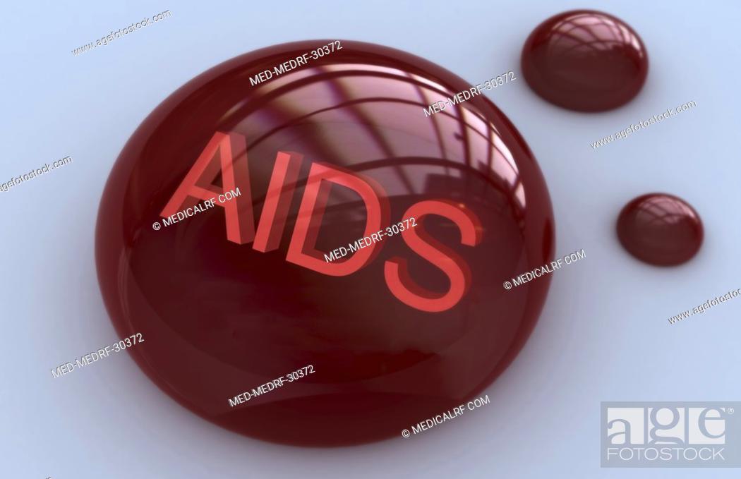 Stock Photo: Aids.