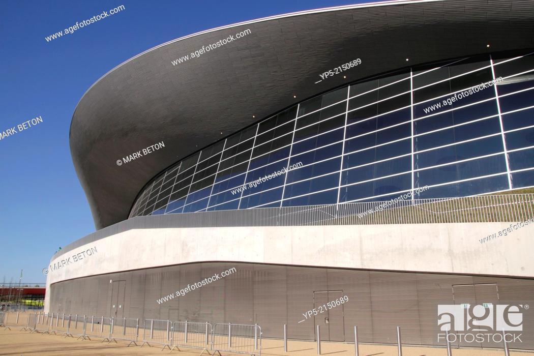 Stock Photo: Aquatics Centre at the Olympic Park Stratford London.