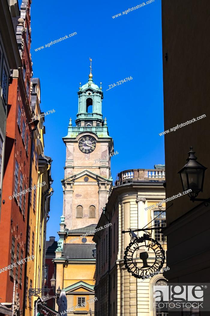 Stock Photo: St. Nicholas church in Gamla Stan (old Town), Stockholm, Sweden.