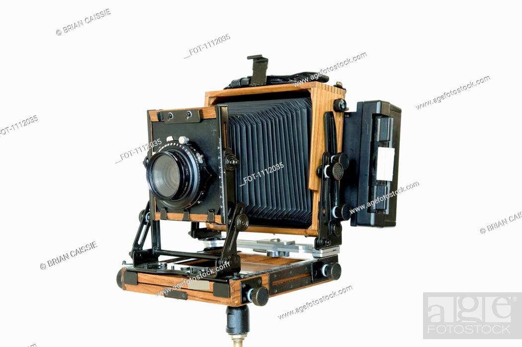 Stock Photo: An old-fashioned large format field camera.