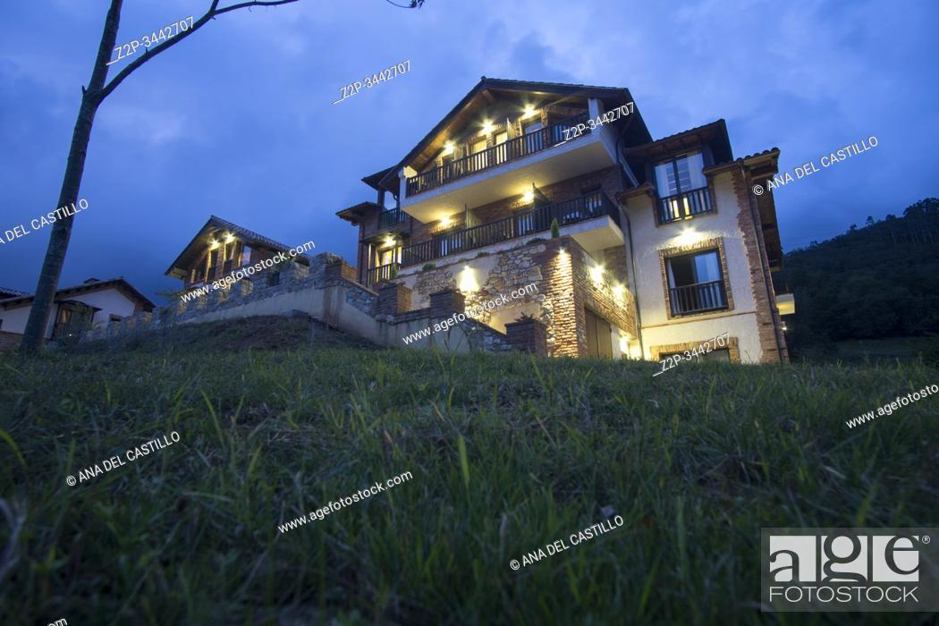 Stock Photo: Beceña Asturias Spain on September 9, 2019 Cerro La Nina hotel resort in the mountains.