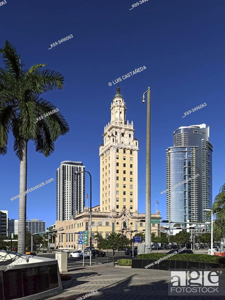 Stock Photo: The Freedom Tower. Downtown Miami. Florida. USA.