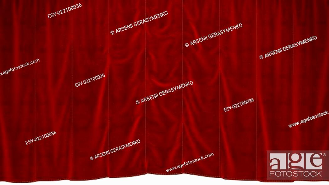 Stock Photo: Red dropping Curtain.