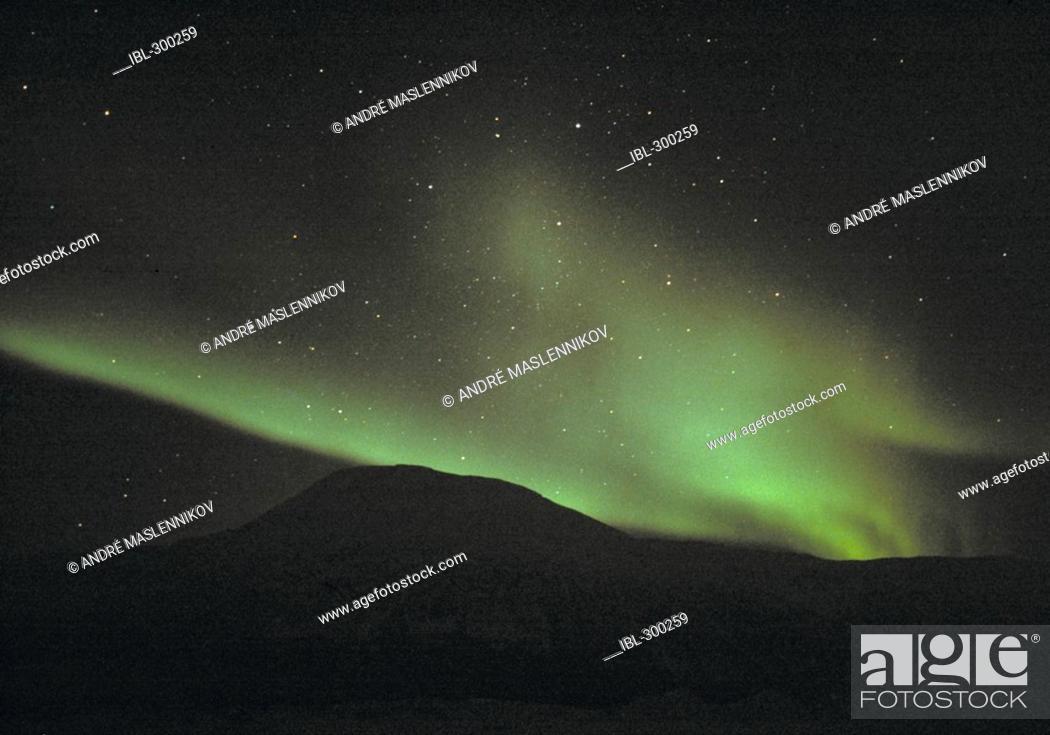 Stock Photo: Northern lights outside Tromsö, Norway.