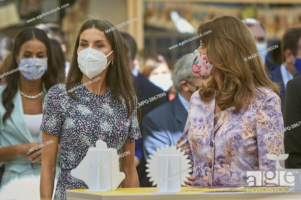 Stock Photo: Queen Letizia attend opening of the 80th edition of the Madrid book fair at Retiro Park on September 10, 2021 in Madrid, Spain.
