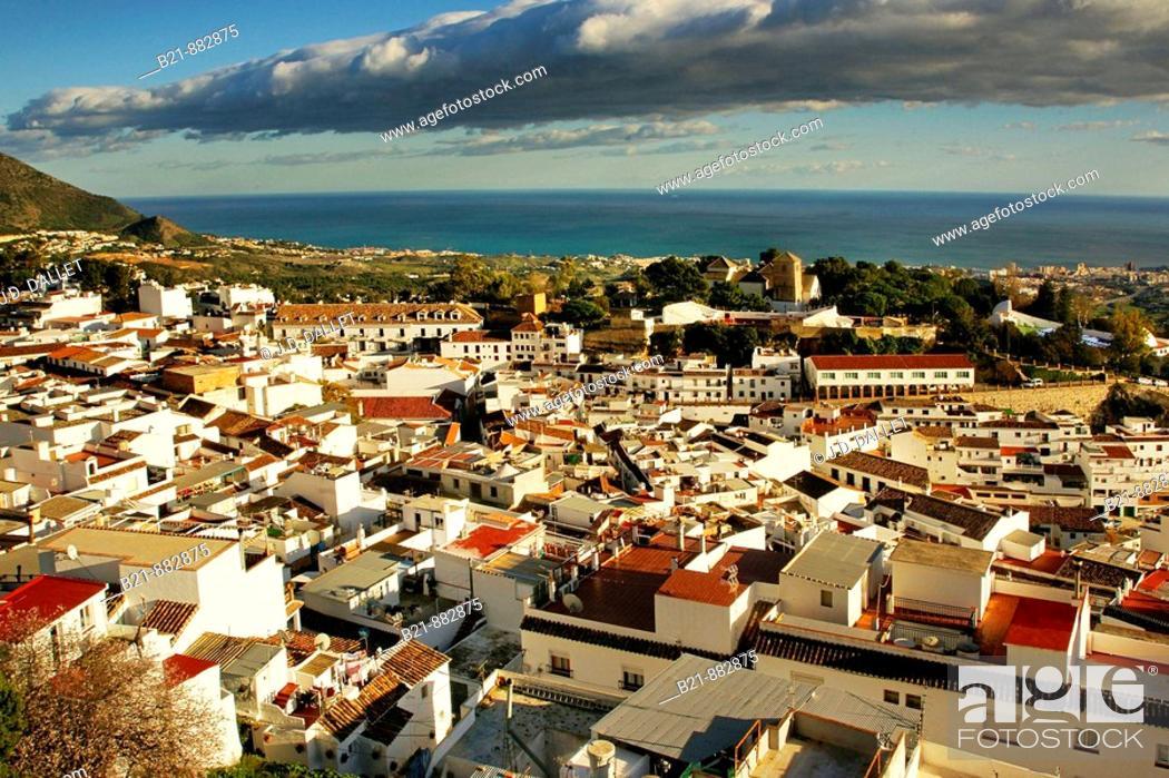 Stock Photo: Mijas, Costa del Sol. Malaga province, Andalusia, Spain.