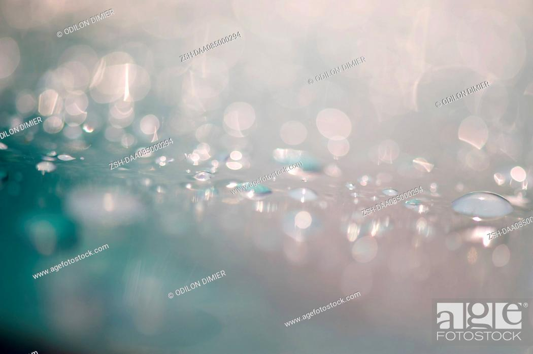 Stock Photo: Close-up of water droplets.