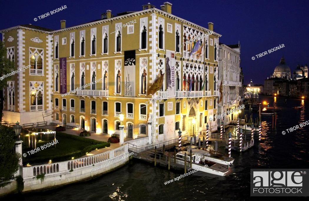 Stock Photo: Italy, Venice, Grand Canal, Cavalli Franchetti Palace.