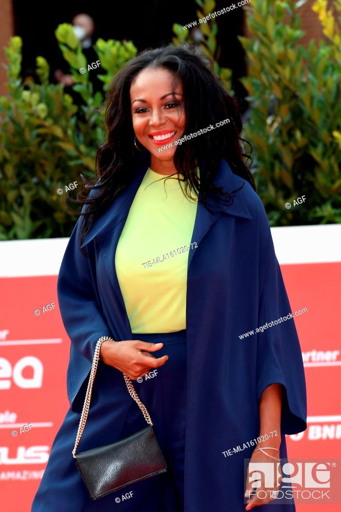Stock Photo: Ira Fronten attends the red carpet of Steve McQueen during the 15th Rome Film Festival on October 16, 2020 in Rome, Italy.