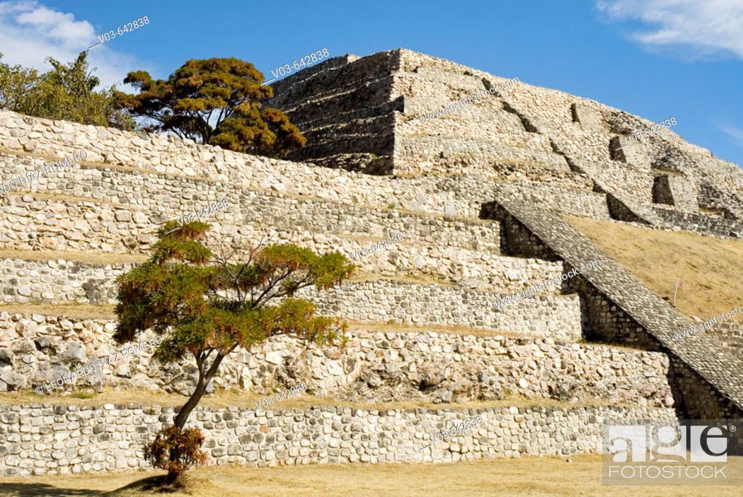 Stock Photo: Xochicalco. Morelos, Mexico.
