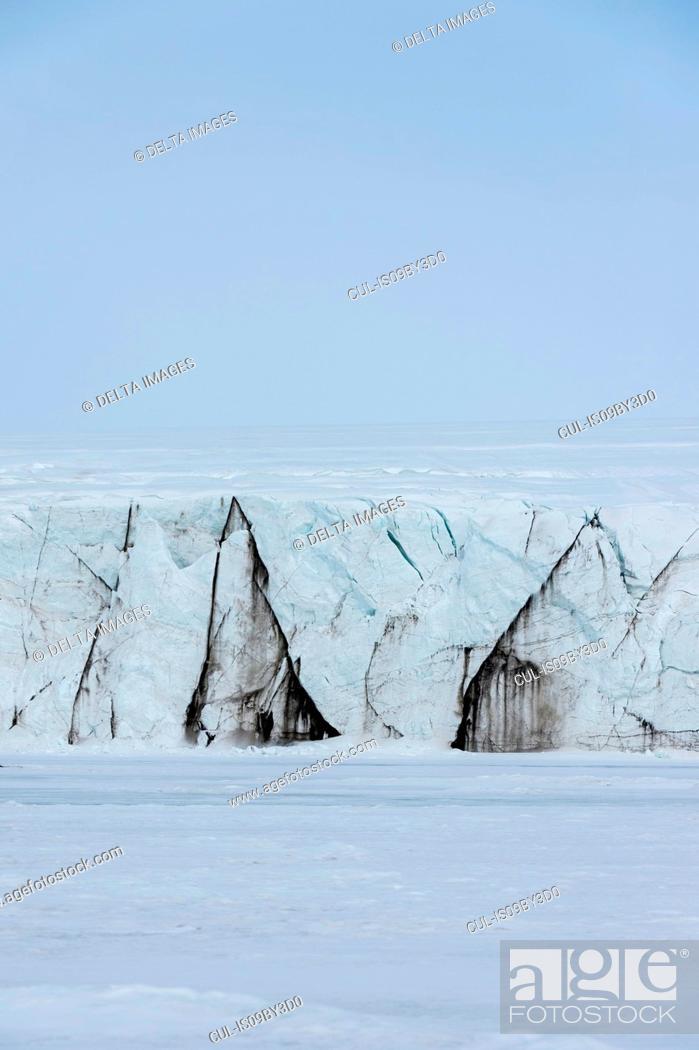 Stock Photo: Glacier landscape, Barents Island, Svalbard, Norway.