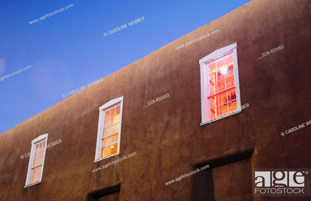 Stock Photo: City of Santa Fe, New Mexico, USA.