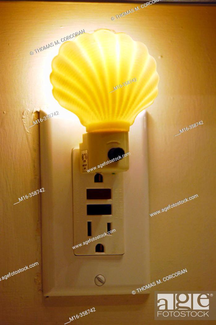 Stock Photo: Fun-shaped night lights help both children and parents get a good night sleep.