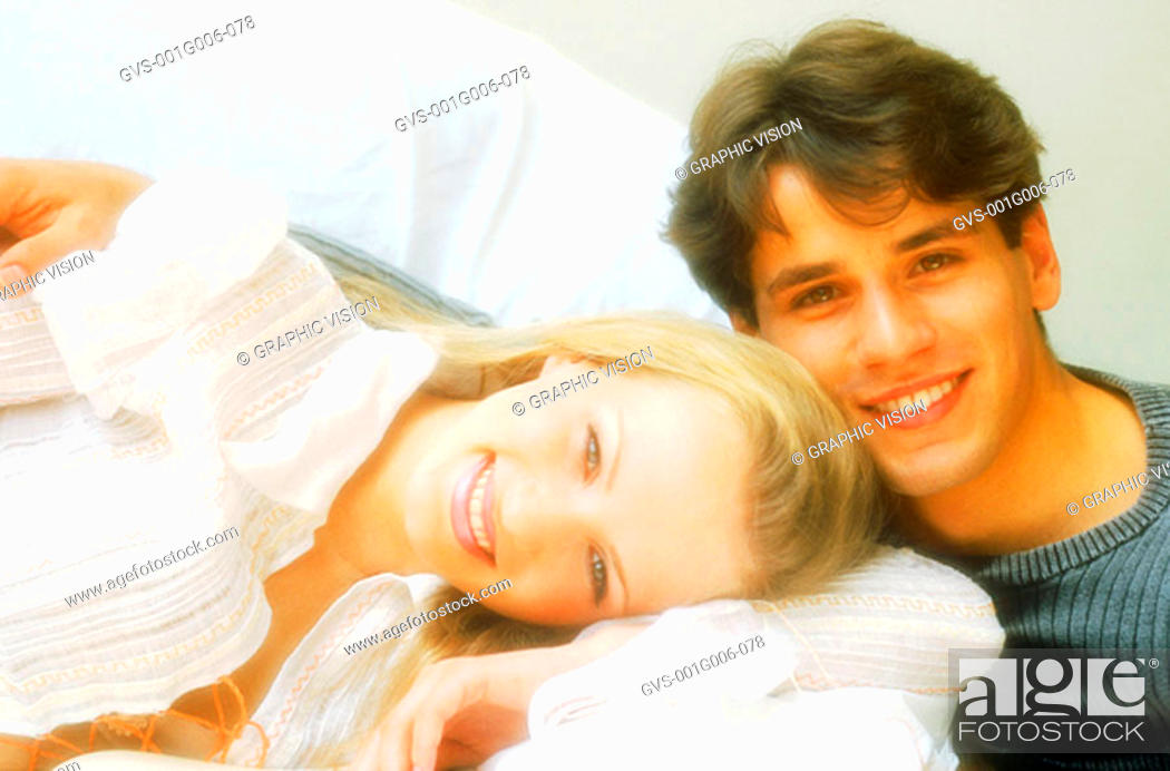 Stock Photo: Portrait of young couple together.