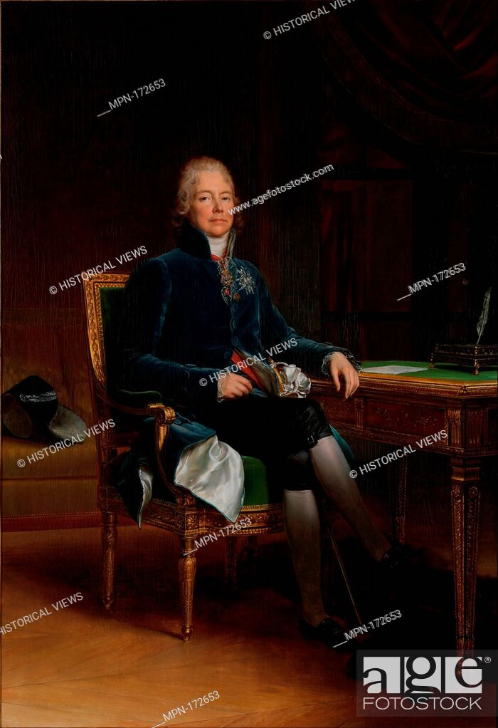 Photo de stock: Charles Maurice de Talleyrand Périgord (1754-1838), Prince de Bénévent. Artist: baron François Gérard (French, Rome 1770-1837 Paris); Date: 1808; Medium: Oil on.