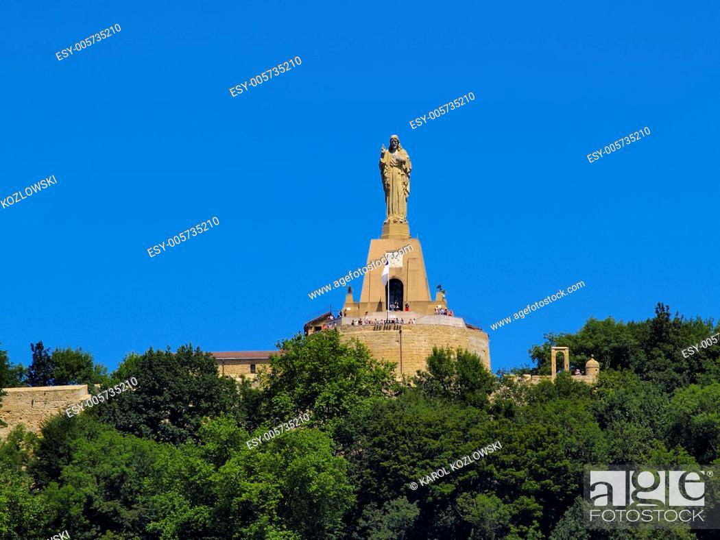 Stock Photo: Jesus Monument in Donostia - San Sebastian, Basque Country, Spain.