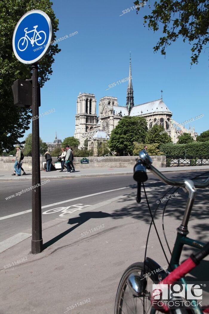 Stock Photo: Notre Dame Cathedral, Paris, Île-de-France, France.