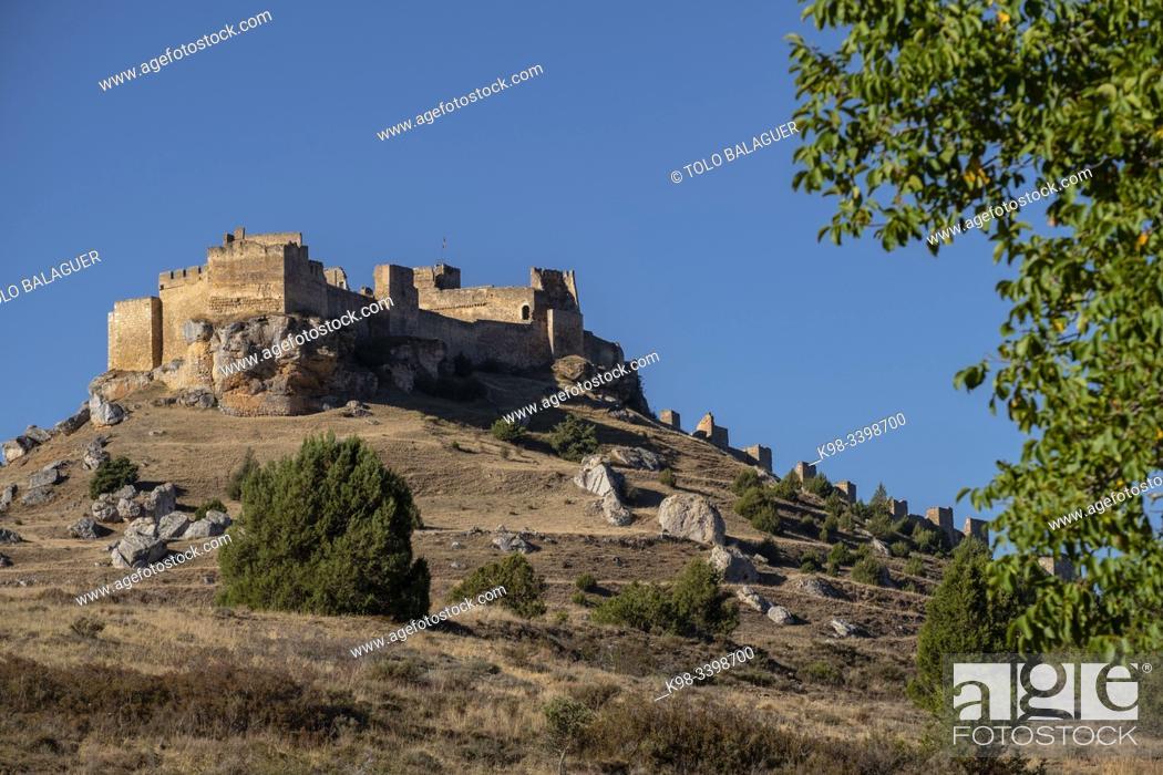 Stock Photo: Gormaz castle, 10th Century, Gormaz, Soria, Comunidad Autónoma de Castilla, Spain, Europe.