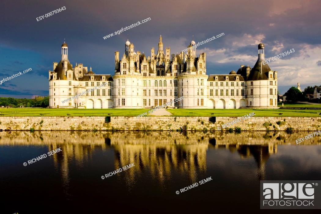 Stock Photo: Chambord Castle, Loir-et-Cher, Centre, France.