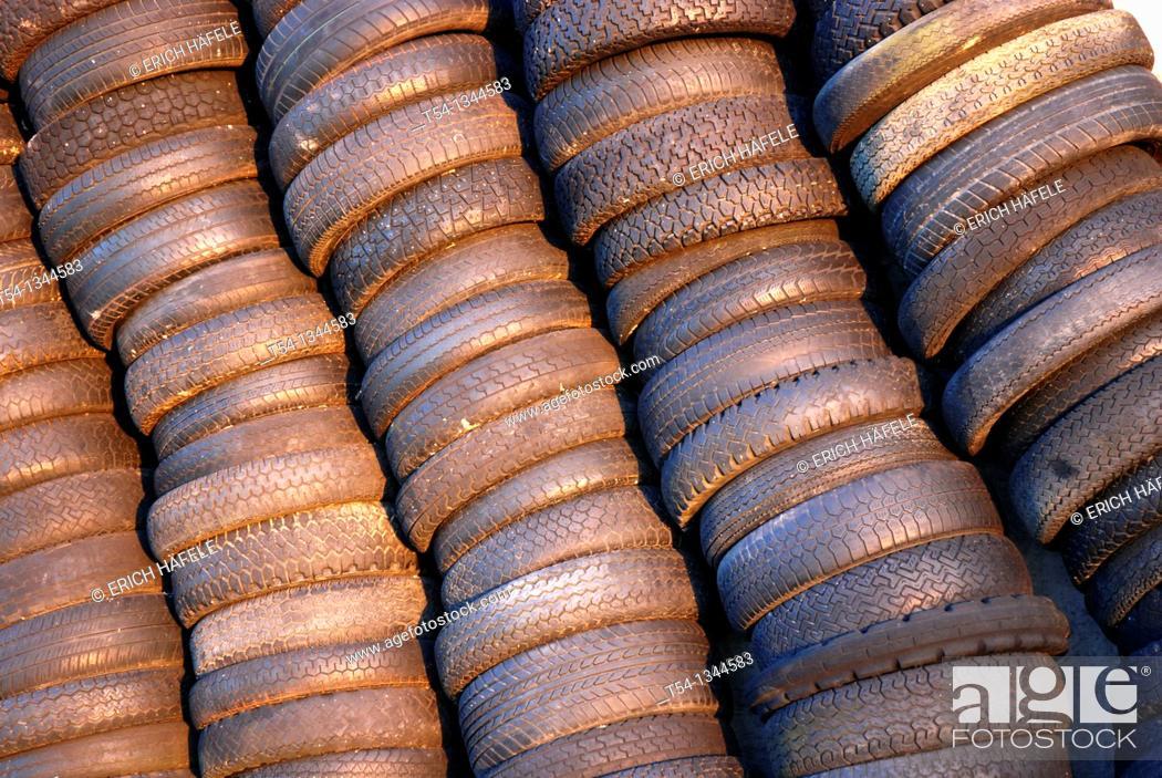 Stock Photo: Scrap tire pile.
