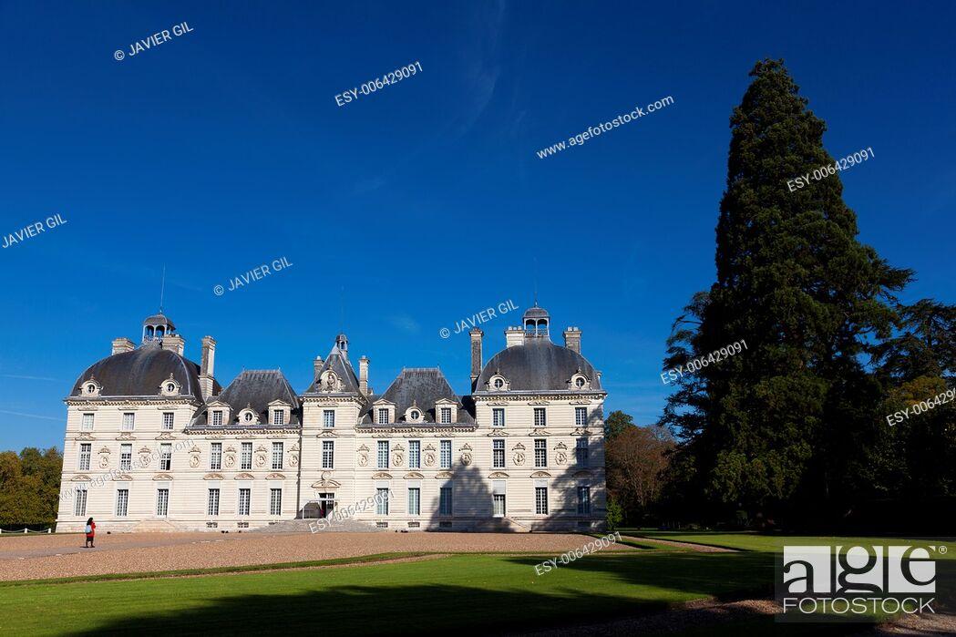Stock Photo: Castle of Cheverny, Indre-et-Loire, Centre, France.