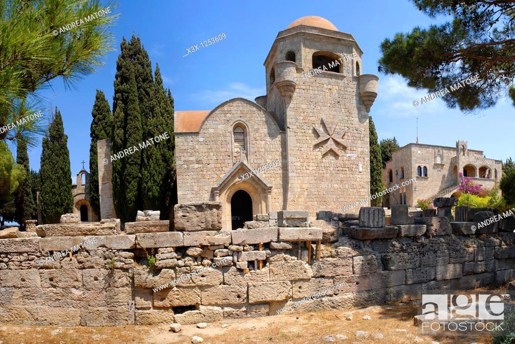 Stock Photo: The Filerimos Monastery Island of Rhodes Greece.